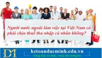 Người nước ngoài làm việc tại Việt Nam có phải chịu thuế thu nhập cá nhân không?