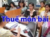 Các Quy Định Chung Về Khai Và Tính Thuế Môn Bài Phải Nộp