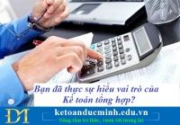 Bạn đã thực sự hiểu vai trò của Kế toán tổng hợp hay chưa? Kế toán Đức Minh.