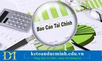 Xử phạt hành vi lập và trình bày báo cáo tài chính không tuân thủ đúng chế độ kế toán và chuẩn mực kế toán – Kế toán Đức Minh.