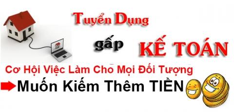 Tuyển gấp kế toán tổng hợp tại Hà Nội